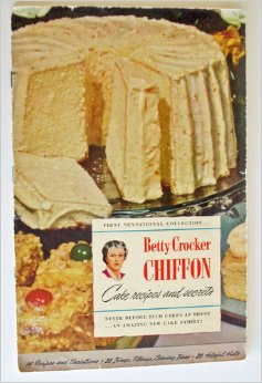Betty Crocker chiffon cake recipes and secrets - January 1, 1948. Found on Amazon.com