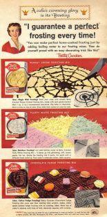 Ad food Betty Crocker Cake mixes.