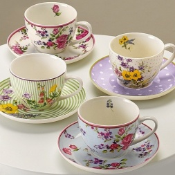 Cups and Saucers ~ 1930's
