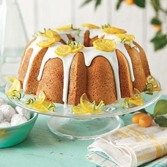 Baking with 7-up in place of liquids became popular in the 1950's. This is a Lemon-lime Pound Cake.