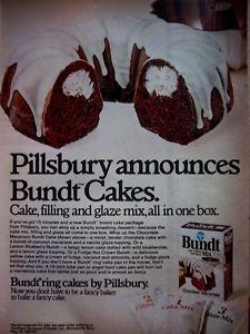 1972 Bundt Cake Ad