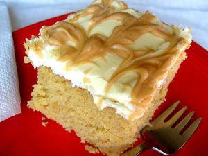 Peanut Butter Banana Cake ~ Pillsbury Bake Off Winner