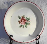 Rose Tin Pie Plate