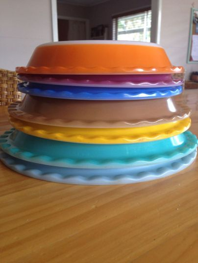 Multi Colored Pyrex Pe Plates
